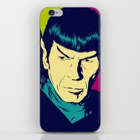 spock iPhone & iPod Skins featuring Spock Logic by Vee Ladwa