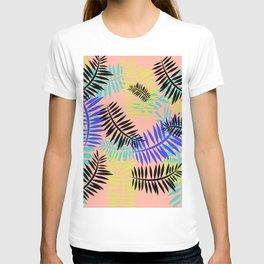 Tropical Ferns Coral T-shirt
