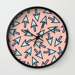 Peachy Keen Cursors Wall Clock