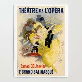 Belle Epoque vintage poster, French Theater, Theatre de L'Opera Poster