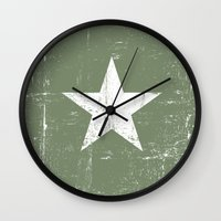 army Wall Clocks featuring ARMY by mauromod