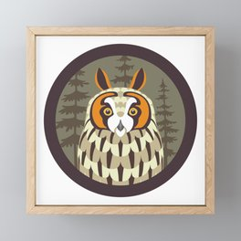Long-eared Owl Framed Mini Art Print