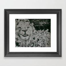 Lion and Man Framed Art Print