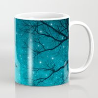 white Mugs featuring Stars Can't Shine Without Darkness  by soaring anchor designs