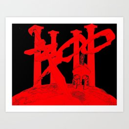 300 Red and Black Art Print