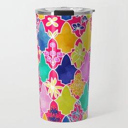 Marrakesh Tiles and Flowers Travel Mug