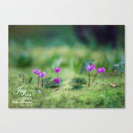 In a Secret Garden Canvas Print