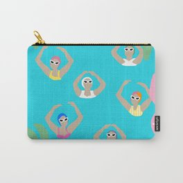 Artistic swimmers tropical illustration Carry-All Pouch