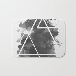 Splashed Triangles Bath Mat