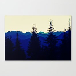 Mountains in North Vancouver under Smokey Skies Canvas Print
