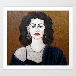 Amalia Rodrigues, the voice of the fado Art Print