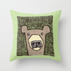 dack the bear Throw Pillow