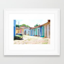 40. Most colorful street, Cuba Framed Art Print