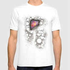 Space Cluster Mens Fitted Tee White MEDIUM