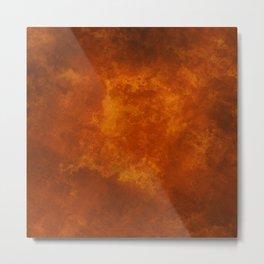 Grunge Orange Metal Print
