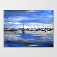 boats Canvas Prints featuring Boats by Averin Art