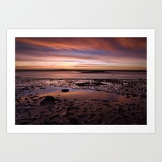 November dawn. Wells-next-the-sea, Norfolk, UK. Art Print