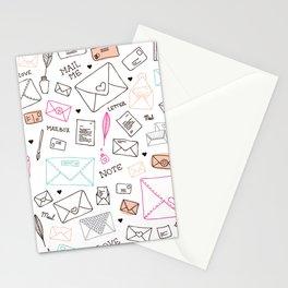 Love letter illustration pattern design Stationery Cards