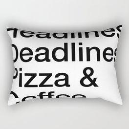 Headlines Deadlines Pizza Coffee Rectangular Pillow