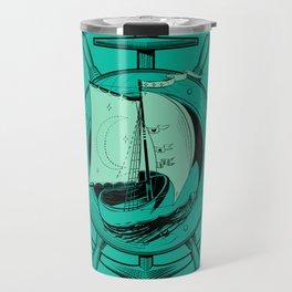 Anchor Wheel & Wooden Sailer Travel Mug