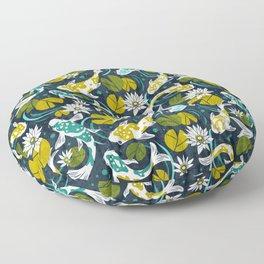 Koi Pond - Green Floor Pillow