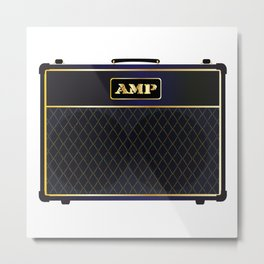 Electric Guitar Amplifier Metal Print