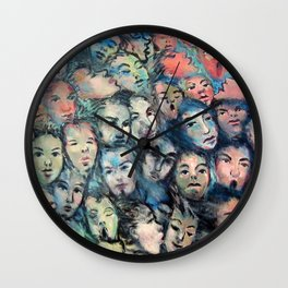 face, face, face Wall Clock