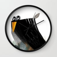 birdy Wall Clocks featuring Birdy by Jovana