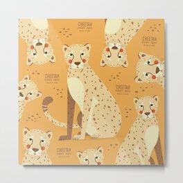 Cheetah, African Wildlife Metal Print