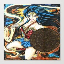 WonderWoman Battle Canvas Print