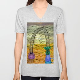 RainWater in the Desert - Tubes 2 Unisex V-Neck