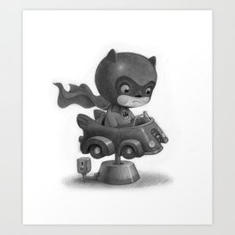 Lil Bat Man Art Print