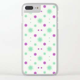 Stars Motif Multicolored Pattern Clear iPhone Case