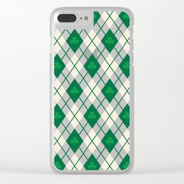 Irish Argyle Clear iPhone Case