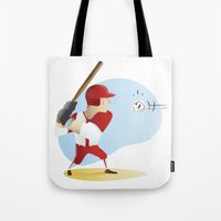 baseball Tote Bags featuring Baseball! by Dues Creatius