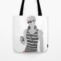 snk Tote Bags featuring SNK: Modern Jean Kirschstein by Yuki119