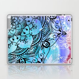 Bohemian Secret Blue & Pink Mandala Design Laptop & iPad Skin
