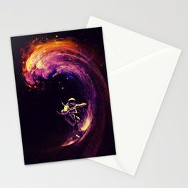 Space Surfing Stationery Cards
