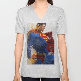 Watercolour Superman Unisex V-Neck