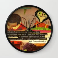 skyfall Wall Clocks featuring skyfall by karen owens