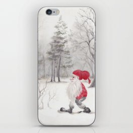 Gnome and bullfinch iPhone Skin