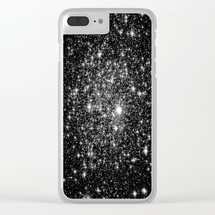 staRs Black & White Clear iPhone Case