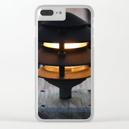Amber Glow Clear iPhone Case