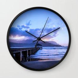 Pier Hanalei Bay Wall Clock