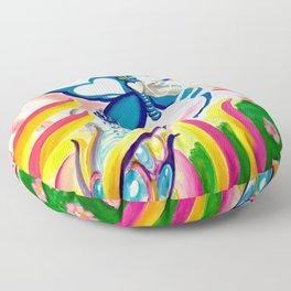"""SF Butterfly"" by Adam France Floor Pillow"