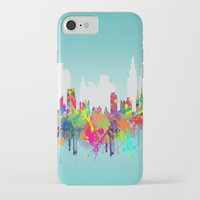 new york iPhone & iPod Cases featuring NEW YORK, NEW YORK by mark ashkenazi