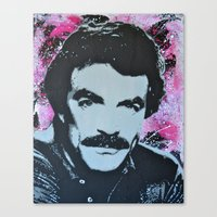 tom selleck Canvas Prints featuring Tom Selleck _ Who Wants A Moustache Ride? by cutanddestroy1