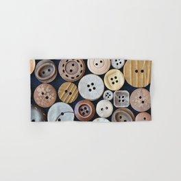 Wooden Buttons Hand & Bath Towel