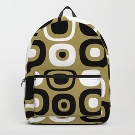Mid Century Modern Garden Path Pattern 380 Gold and Black Backpack