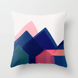 Houses abstract Throw Pillow